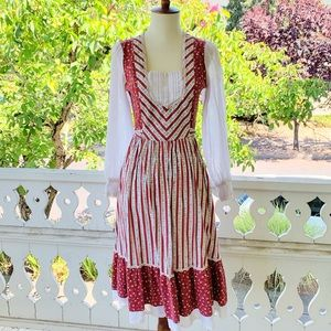 Vintage Candi Jones Floral Prarie Midi Dress